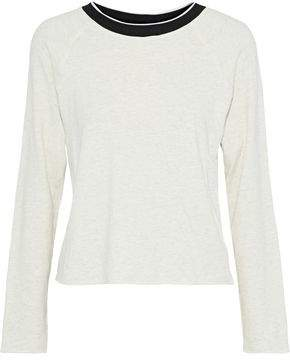 Monrow Mélange French Cotton-Blend Terry Top