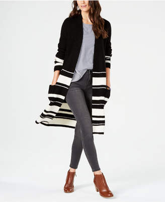 Style&Co. Style & Co Petite Colorblock Striped Completer Sweater