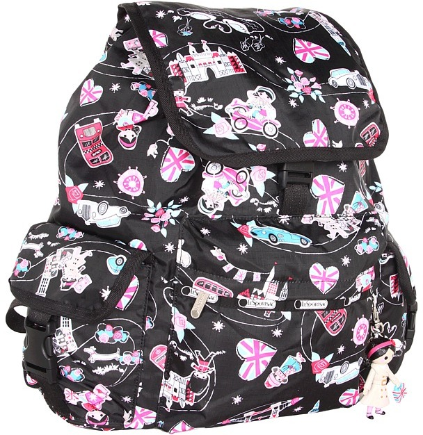 Le Sport Sac Voyager Backpack w/ Charm (Fancy That) - Bags and Luggage
