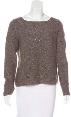 Alice + Olivia Sequined Long Sleeve Sweater