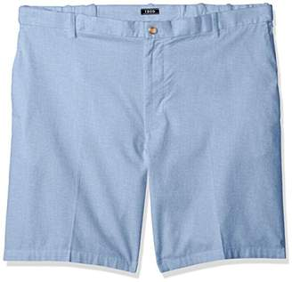 Izod Men's Big and Tall Flat Front Solid Oxford Short