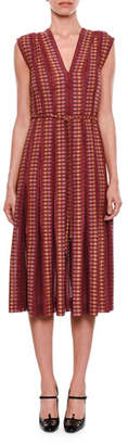 Bottega Veneta Cap-Sleeve Chenille Knit Dress