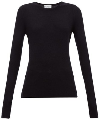 Raey Crew Neck Fine Rib Cashmere Sweater - Womens - Navy