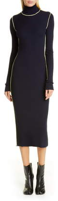 Maison Margiela Long Sleeve Rib Midi Sweater Dress