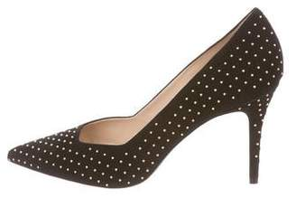 Aperlaï Studded Suede Pumps