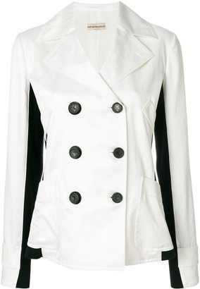 Giorgio Armani Pre-Owned side panels double-breasted jacket