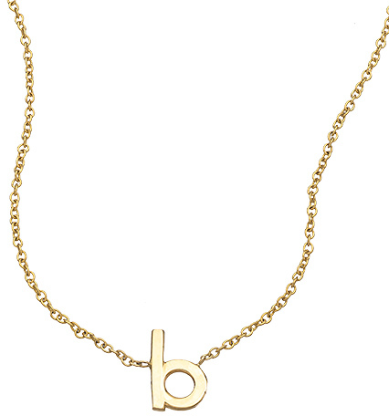 Janna Conner Fine Jewelry Initial Necklace