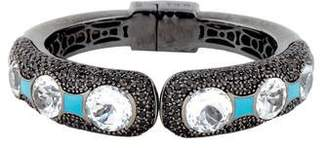 MCL by Matthew Campbell Laurenza Colorless Topaz & Spinel Enamel Bracelet