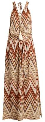 Melissa Odabash Jacquie Zigzag Print Maxi Dress - Womens - Brown Multi