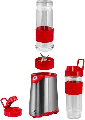 Kalorik Red and Stainless Steel Personal Blender - Set of 2 Bottles