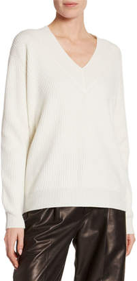 Tom Ford Cashmere Large-Ribbed V-Neck Sweater