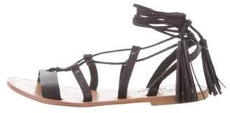 Joie Lace-Up Leather Sandals