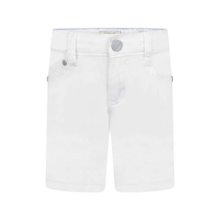 Armani JuniorBaby Boys White Cotton Shorts