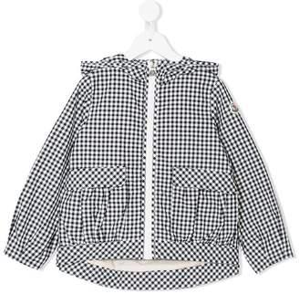 Moncler gingham hooded jacket