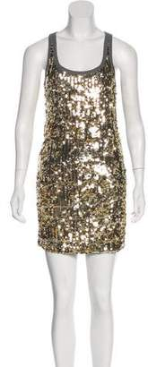 Dolce & Gabbana Sequin-Embellished Mini Dress