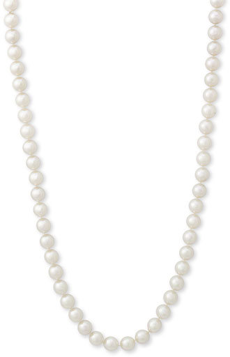Majorica Extra Long Single Strand 8mm Pearl Necklace