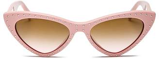 Moschino Women's 006 Slim Cat Eye Sunglasses, 52mm