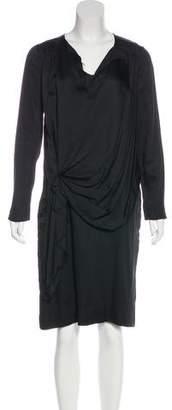 Marni Silk-Blend Long Sleeve Dress
