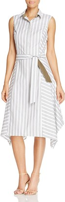 Lafayette 148 New York Nanette Stripe Shirt Dress - 100% Exclusive $398 thestylecure.com