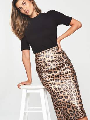 d5463b8df V By Very Petite V by Very Petite Leopard Print Pencil Skirt
