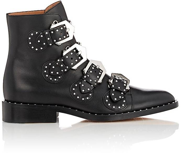 Givenchy Women's Studded Buckle-Strap Ankle Boots