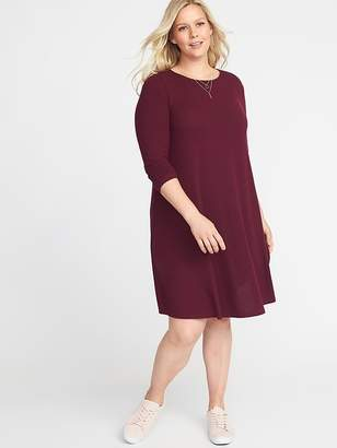 Old Navy Plush-Knit Plus-Size Swing Dress