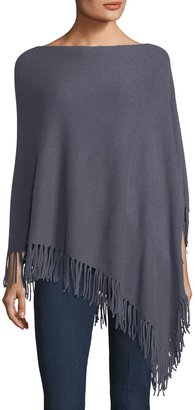 Minnie Rose Cashmere Fringed Poncho $179 thestylecure.com