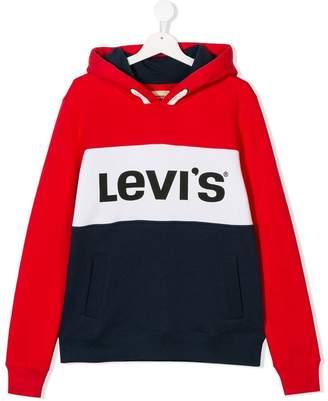 Levi's Kids TEEN logo drawstring hoodie