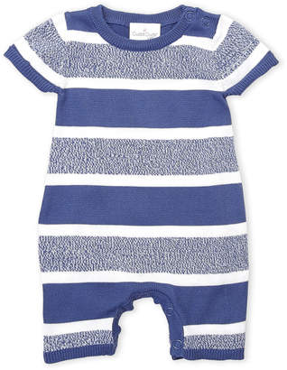 Cuddl Duds Newborn Boys) Blue Stripe Knit Coveralls