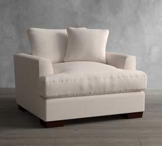 Pottery Barn Sullivan Deep Fin Arm Upholstered Armchair