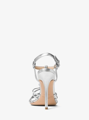 Michael Kors Alek Metallic Leather Sandal