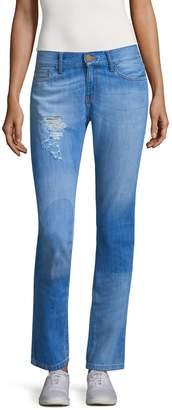 Etienne Marcel Women's Straight Leg Distressed Jean