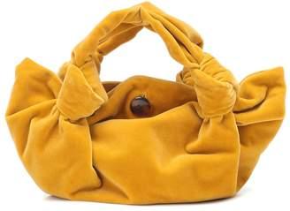 The Row The Ascot silk-velvet clutch