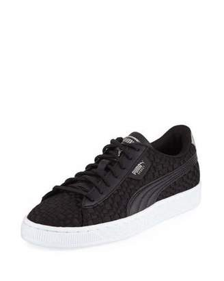 Puma Basket Woven Satin Sneakers