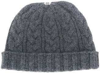 N.Peal pom-pom knitted beanie hat
