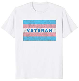 Transgender Veteran Flag Distressed T-Shirt
