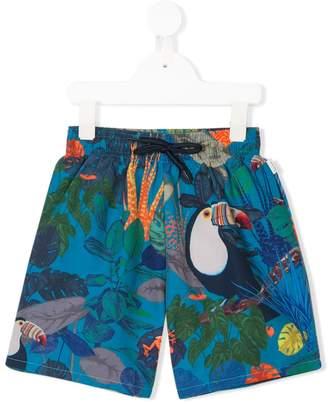 Paul Smith tropical-print swim shorts