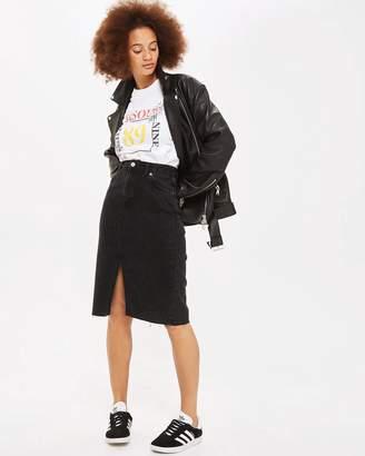 Topshop MOTO Midi Denim Skirt