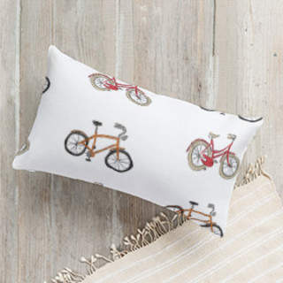 Retro bicycles Self-Launch Lumbar Pillows