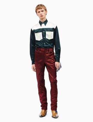 Calvin Klein satin reverse-seam jean