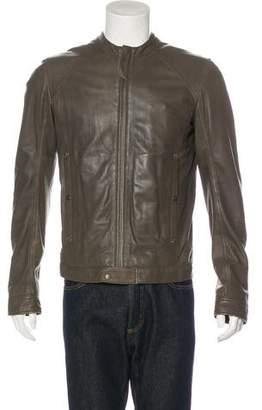 Diesel Collarless Leather Jacket