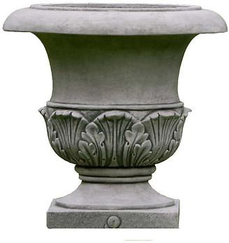 "Campania International 17"" Williamsburg Acanthus Planter - Alpine Stone"