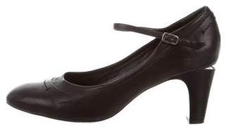 Marc Jacobs Round-Toe Mary-Jane Pumps