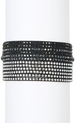 Swarovski Multi Row Crystal Wrap Bracelet $69 thestylecure.com