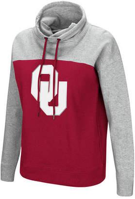 Colosseum Women's Oklahoma Sooners Logo Funnel Neck Hooded Sweatshirt