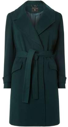 Dorothy Perkins Womens DP Curve Plus Size Emerald Wrap Belted Coat