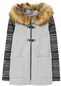 Women's Grey Polyester Coat.