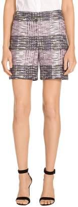 St. John Anna Plaid Knit Shorts