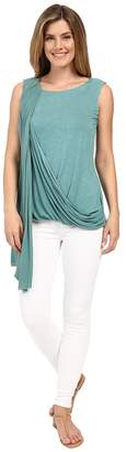 Miraclebody Jeans Gigi Side Drape Blouse w/ Body-Shaping Inner Shell Women's Blouse