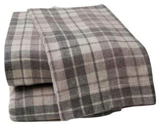 La Rochelle British Peach Plaid Sheet Set King Bedding